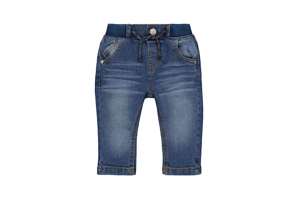 Boys Jeans Washed With Ribwaist - Blue