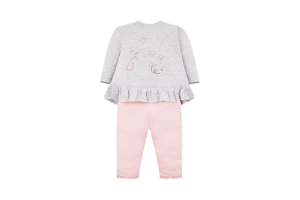 My First Fairy Wishes Grey T-Shirt And Ribbed Leggings Set