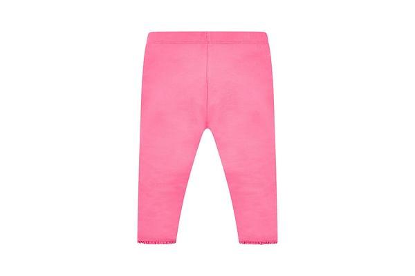Hot Pink Crochet Frill Leggings