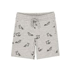 Boys Shorts Palm Tree And Dinosaur Print - Grey