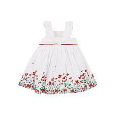 White Border Print Dress