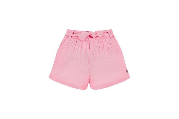 Pink Woven Shorts