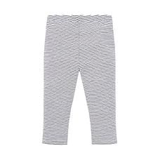 Girls Legging Stripe With Elasticated Waistband - White
