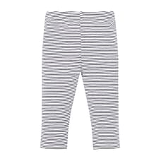 Girls Legging Stripe With Elasticated Waistband - White