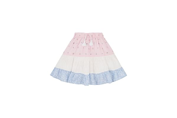 Patchwork Tiered Skirt