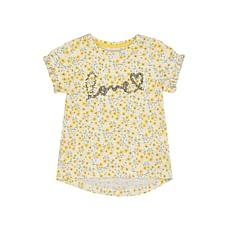 Yellow Flower Sequin T-Shirt