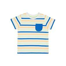 Boys Half Sleeves T-Shirt Stripe - Blue
