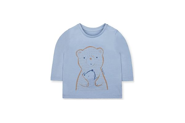 Boys Full Sleeves Bear T-Shirt - Blue