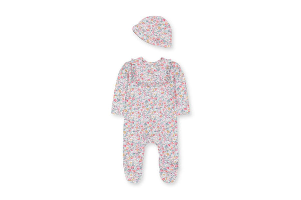Floral All In One And Hat Set