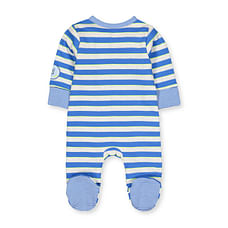 Boys Full Sleeves Snowsuit Striped - Blue