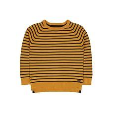 Mustard Striped Knitted Jumper