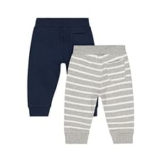 Boys Joggers Stripe - Pack Of 2 - Grey Navy