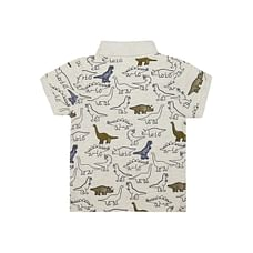 Grey Dinosaur Polo T-Shirt