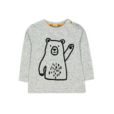 Grey Waving Bear T-Shirt