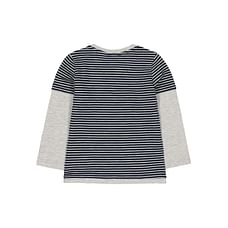 Navy Mock Sleeve T-Shirt
