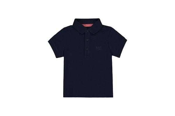 Boys Half Sleeves Polo T-Shirt - Blue