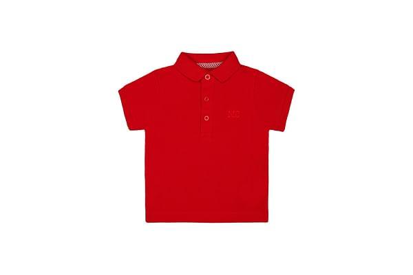 Boys Half Sleeves Polo T-Shirt - Red
