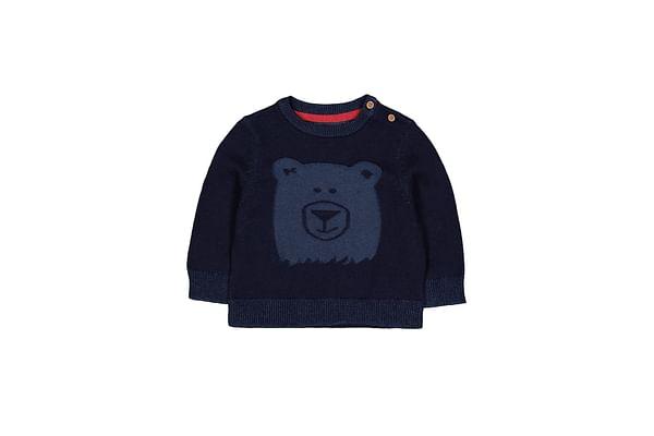 Navy Bear Knitted Jumper