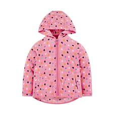 Pink Hearts Hooded Fleece