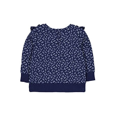 Ditsy Frilled Sweat Top