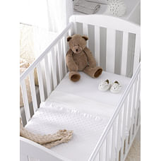 Mothercare White Jersey Cotton Fitted Cotbed Sheets