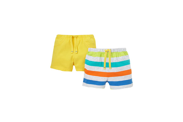 Boys Bright Stripe And Bold Shorts - Pack Of 2