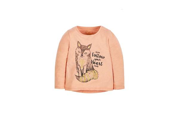 Girls Arctic Fox T-Shirt - Pink