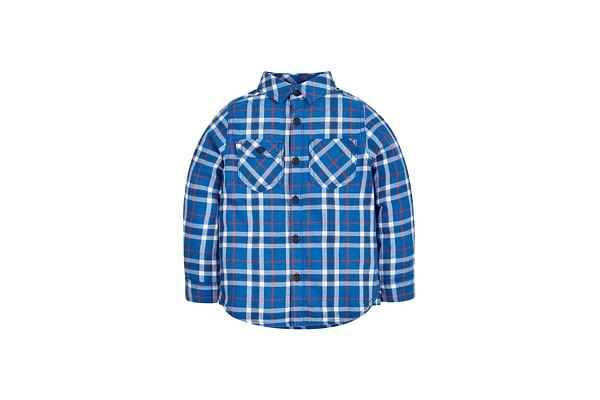 Boys Check Shirt - Blue
