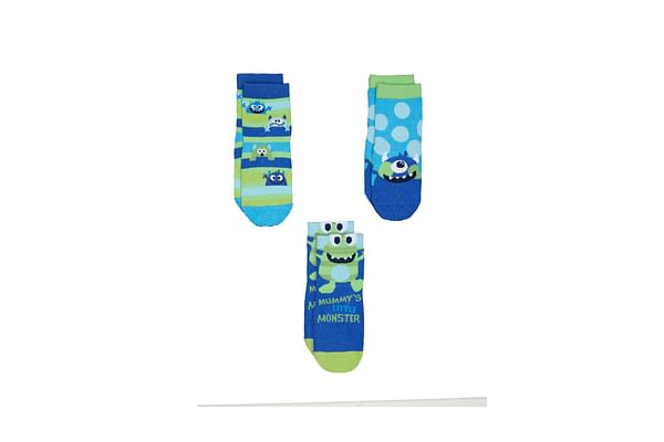 Boys Monster Socks - 3 Pack - Multicolor