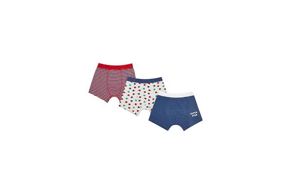 Boys Super Star Trunks - 3 Pack - Multicolor