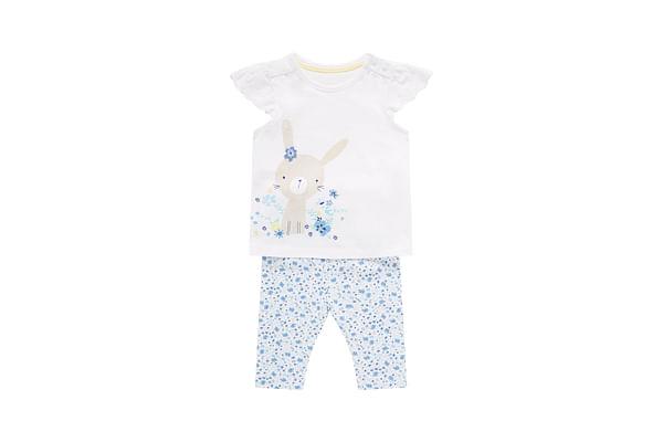 Girls Bunny Dress And Leggings Set