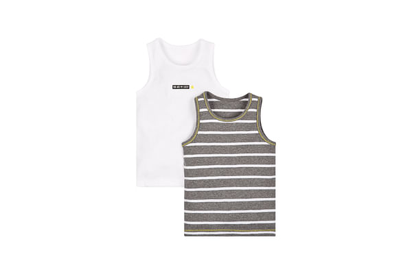 Boys Lucky Star Vests - Pack Of 2