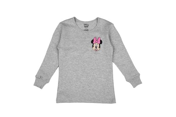 Girls Minnie Full Sleeves Thermal Top - Grey
