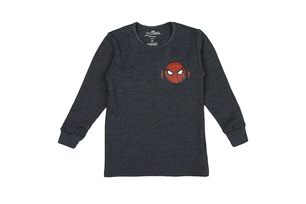 Boys Spiderman Full Sleeves Thermal Top - Navy