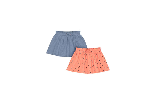 Girls Printed Skirt - Pack Of 2 - Multicolor