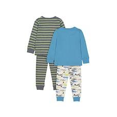 Boys Full sleeves Stripe and crocodile print Pyjamas - Pack of 2 - Multicolor