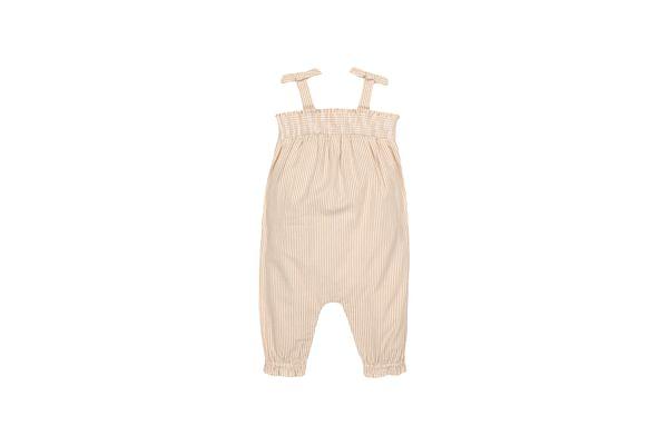 Girls Sleeveless Striped Jumpsuit - Multicolor