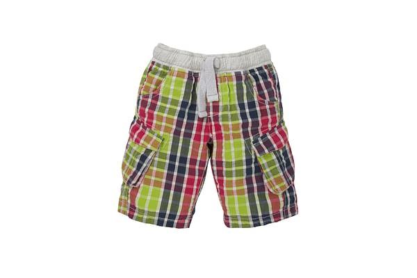 Boys Checked Cargo Shorts - Multicolor