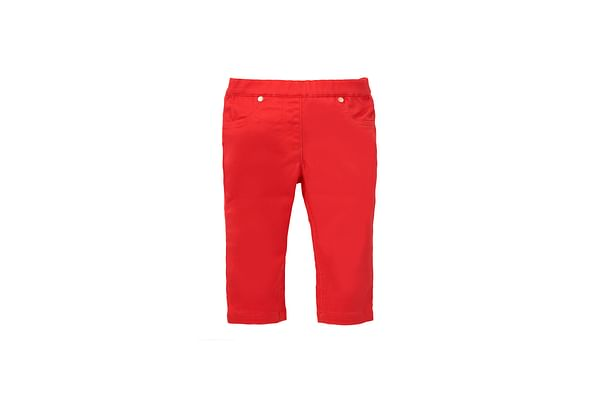 Girls Sateen Cropped Jeggings - Red