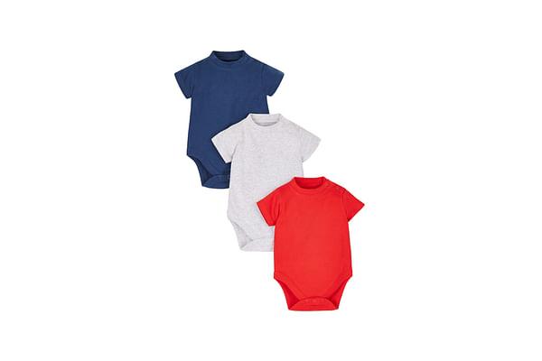 Boys Bodysuits - 3 Pack - Multicolor