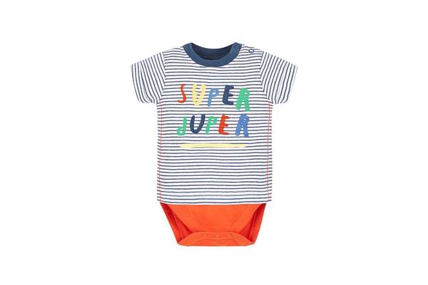 Boys Super Duper Mock T-Shirt Bodysuit - Multicolor