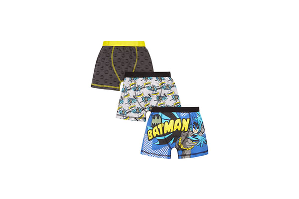 Boys Batman Trunks - 3 Pack - Grey
