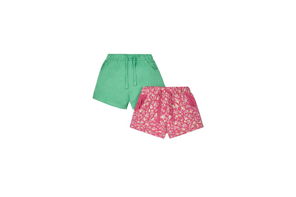Girls Floral Shorts - 2 Pack - White