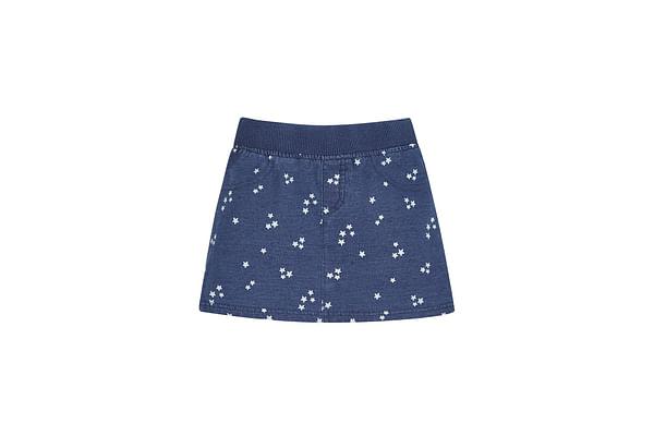 Girls Ribwaist Star Skirt - Denim