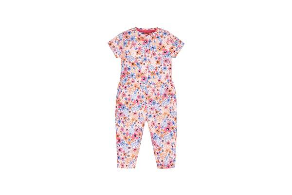 Girls Floral Jumpsuit - Pink