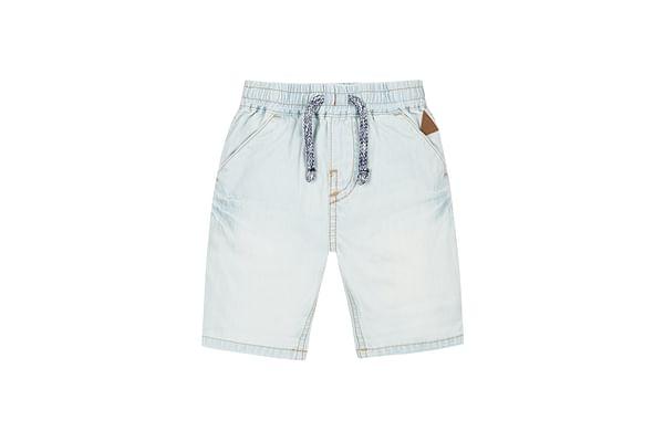 Boys Light Wash Denim Shorts