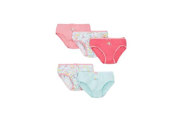Girls Floral Briefs - 5 Pack - Multicolor