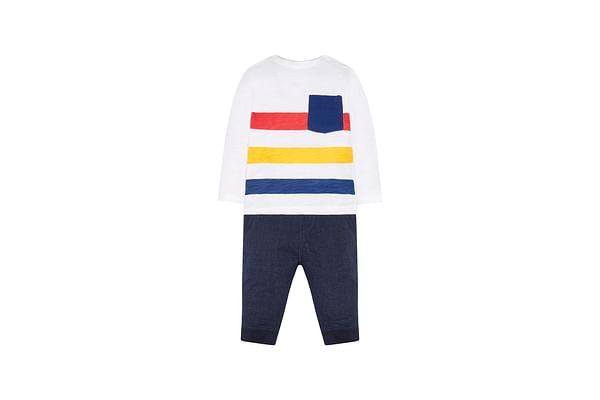 Boys Stripe T-Shirt And Joggers Set - Multicolor