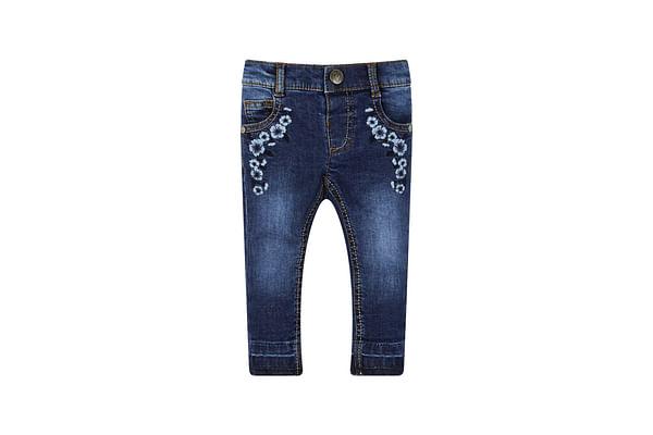 Girls Denim Embroidered Jeans