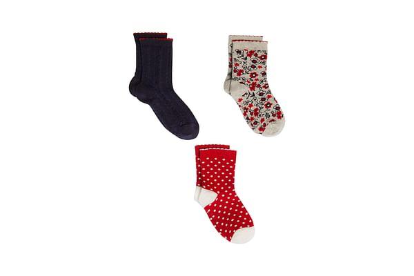 Girls Socks - 3 Pack - Multicolor